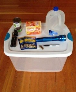 Disaster supply kit, phase one