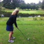 Nicole teeing off recently...
